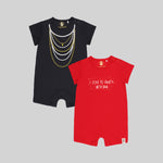 Girls 2 Pack Romper Suits - Organic cotton