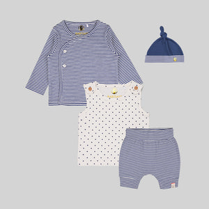 Unisex baby 4 piece Navy Set - Organic cotton