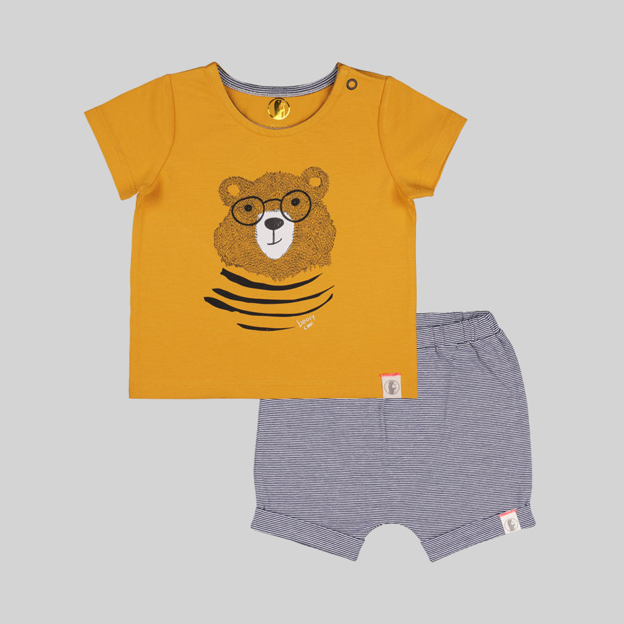Beary Cool Baby Fashion Set - Organic cotton
