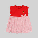 Baby girls dress set (Red) - Organic Cotton