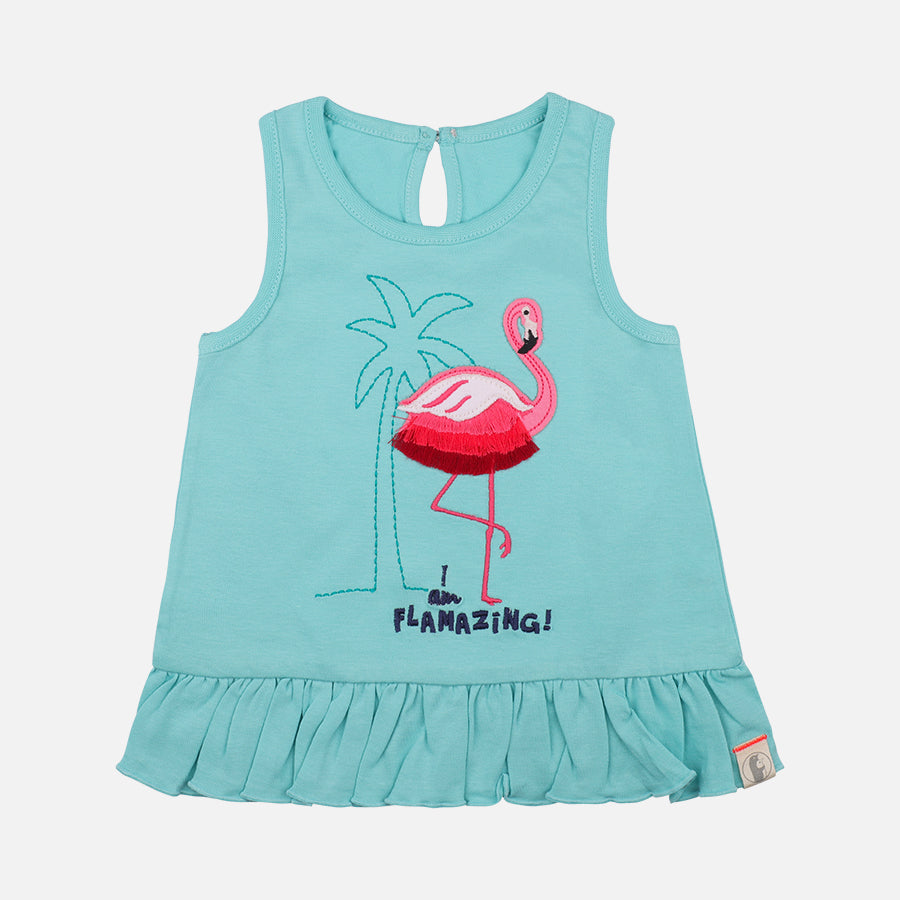 Baby Girl Trendy Summer Flamingo Shorty Set - Organic Cotton
