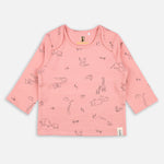 Baby girls Corduroy Dungree Dress and tee set - Organic cotton