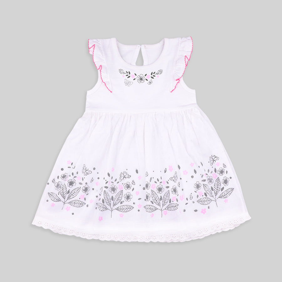 Baby girls Mesh Party dress and head band set - Organic Cotton
