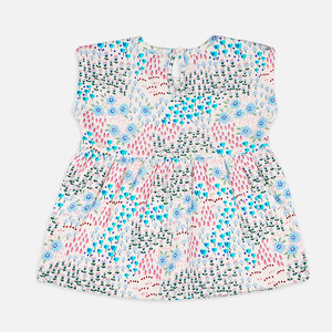 Baby Girls Floral Peplum set  - Organic Cotton