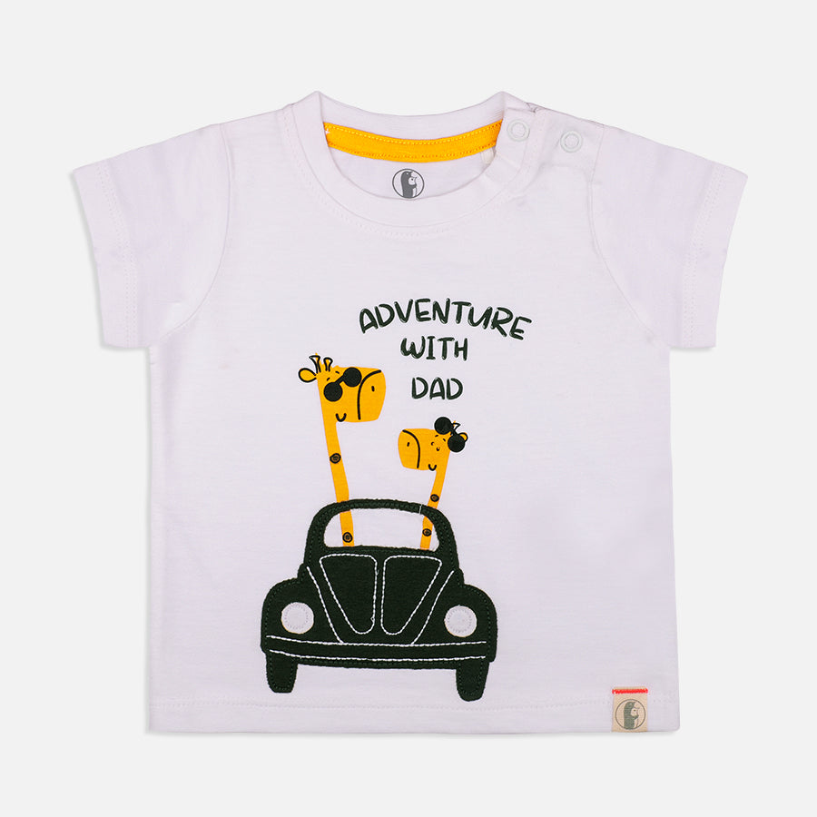 Baby Boys Lion and Giraffe 2 pack Tees  - Organic cotton
