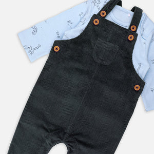 Baby Boys Corduroy Dungree  and tee set