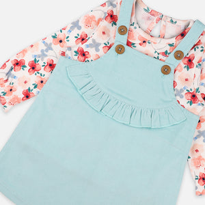 Baby girls Corduroy Dress and tee set - Organic cotton