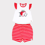 Baby Girl Shorty Set - Organic cotton