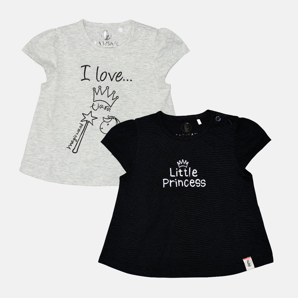 Baby Girl 2 pack Princess tees - Organic Cotton