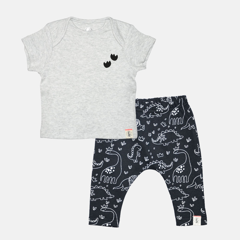Roarsome Baby Boy Dino Set - Organic cotton