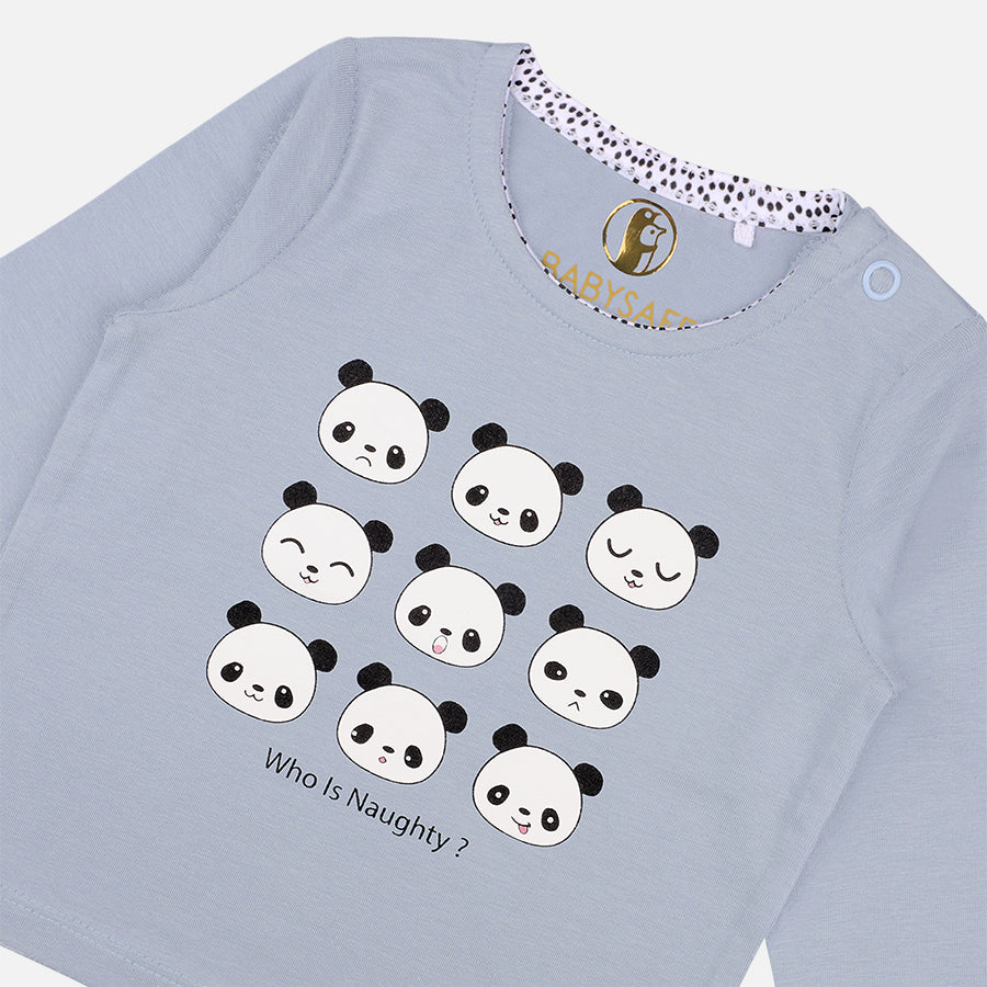 Unisex 3 piece Emoticon Pandas set - Organic cotton