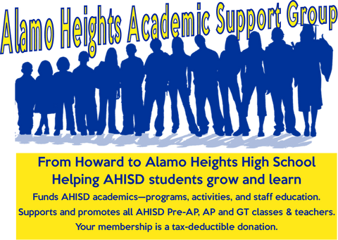 Alamo Heights Academic Support Group - Memberships from $10-$100