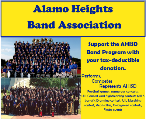 Band Association - Donations from $25-$1,000