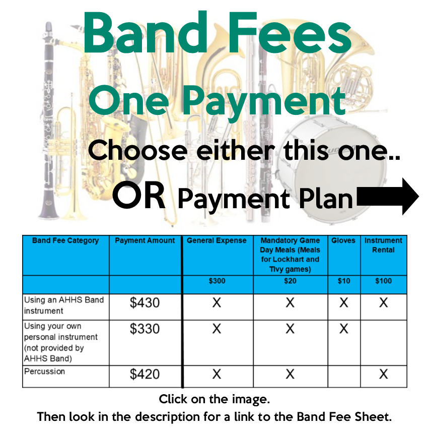 Band Fees - One Payment - Paid in Full
