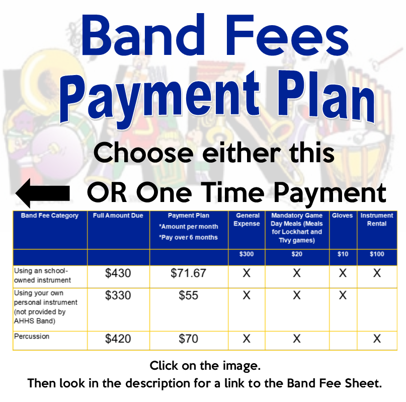 Band Fees - Payment Plan