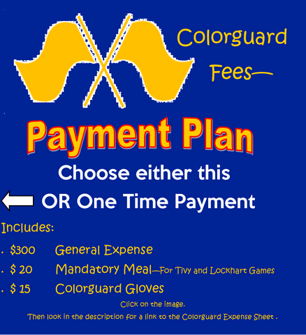 Band Colorguard Fees - Payment Plan