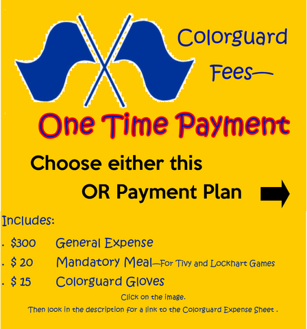 Band Colorguard Fees - One Time Payment