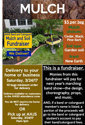 Band - MULCH Order - AH Band and Colorguard Mulch and Soil Fundraiser
