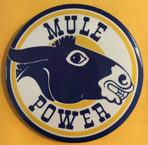 "Band ""Mule Power"" Button Pin"