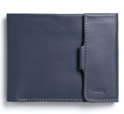 Picture of Bellroy Coin Fold wallet in blue steel