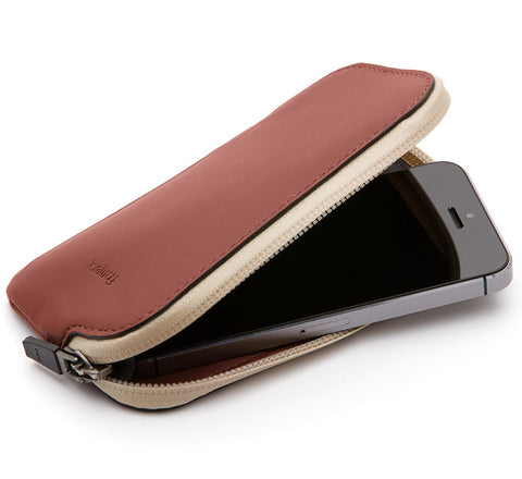 Picture of Bellroy Elements Phone Pocket water resistant phone case wallet for iPhone 5 / 5S in cognac