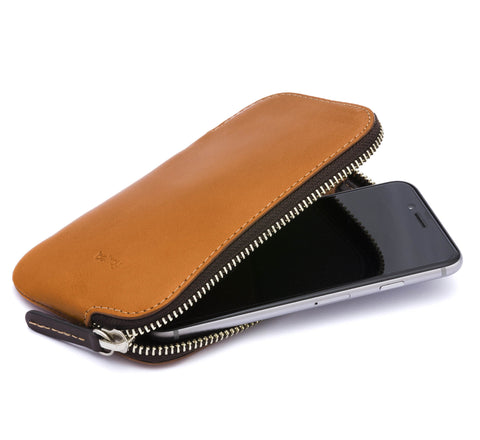 Picture of Bellroy 'Phone Pocket' phone case wallet in caramel