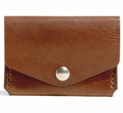 Billykirk 'Triple Slot with Snap' wallet in tan