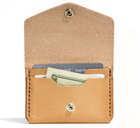 Billykirk 'Triple Slot with Snap'wallet in natural