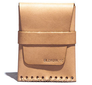 Billykirk 'Card Case' card holder with loop closure in natural