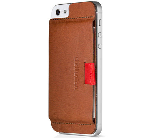 Picture of Distil Union 'Wally Stick-On' iPhone 5/5S/5C wallet case in brown