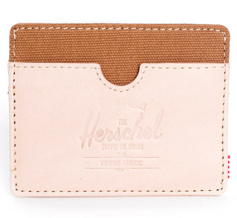 Picture of Herschel card holder Charlie Leather in natural / caramel