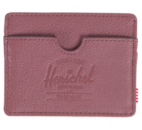 Picture of Herschel card holder 'Charlie Leather' in berry
