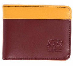 Picture of Herschel 'Hank' leather wallet in rust / honey