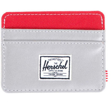 Picture of Herschel card holder 'Charlie' in 3M reflective / red