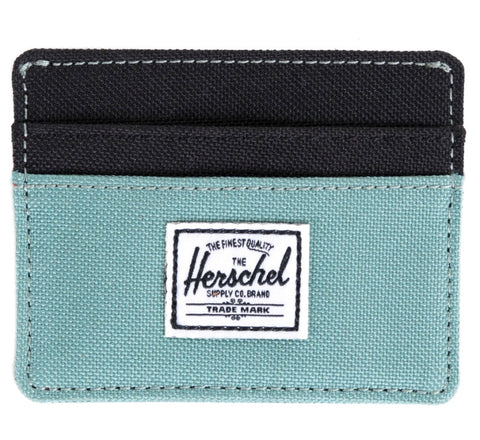 Picture of Herschel card holder 'Charlie' in seamfoam / black