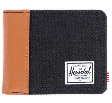 Picture of Herschel 'Edward' wallet in black / tan leather