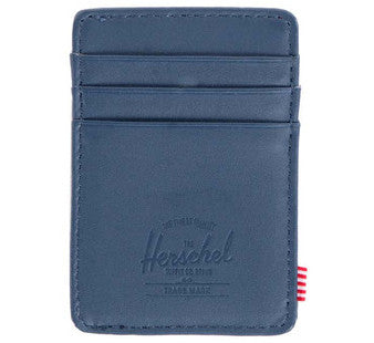 Picture of Herschel card holder 'Raven Leather' in navy