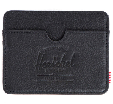 Picture of Herschel card holder 'Charlie Leather' in black