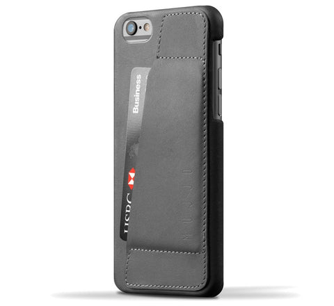 Picture of Mujjo 'Wallet Case 80°' iPhone 6/6S case wallet in grey