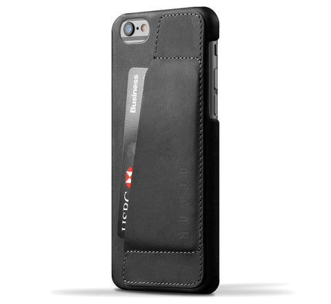 Picture of Mujjo 'Wallet Case 80°' iPhone 6/6S phone wallet case in black