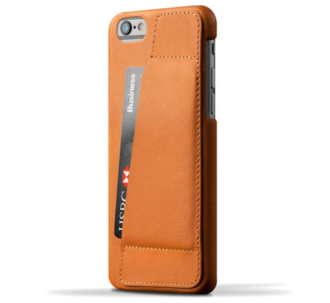 Picture of Mujjo 'Wallet Case 80°' iPhone 6/6S phone case wallet in tan