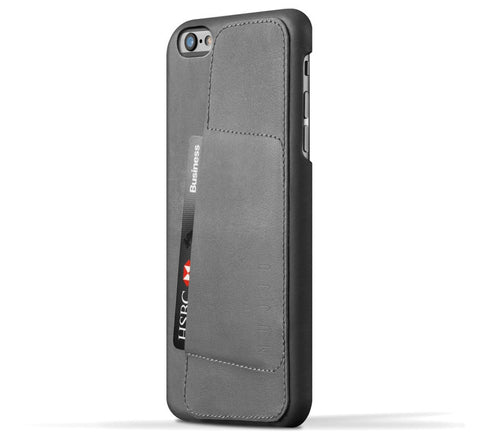 Picture of Mujjo 'Wallet Case 80°' iPhone 6 Plus phone case wallet in grey