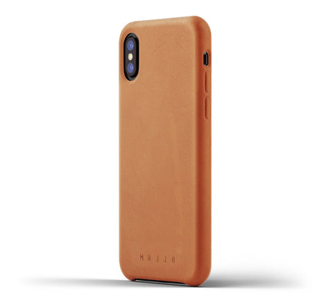 Picture of Mujjo iPhone X case in tan