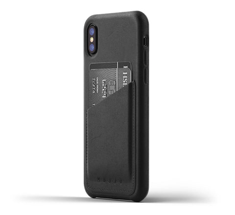 Mujjo iPhone X wallet case in black
