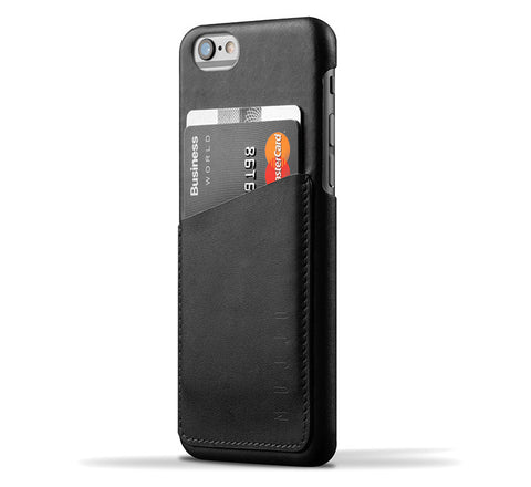 Picture of Mujjo iPhone 6/6S wallet case in black