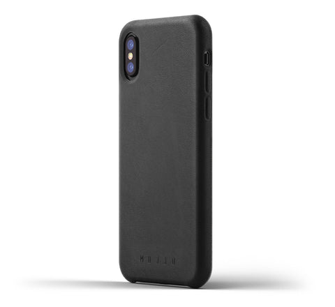 Mujjo iPhone X case in black