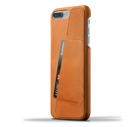 Mujjo iPhone 7 Plus / 8 Plus wallet case 80° in tan