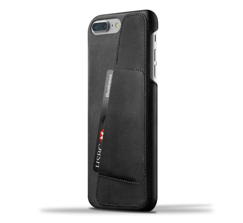 Mujjo iPhone 7 Plus / 8 Plus wallet case 80° in black