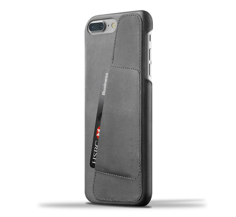 Picture of Mujjo iPhone 7 Plus / 8 Plus wallet case 80° in grey