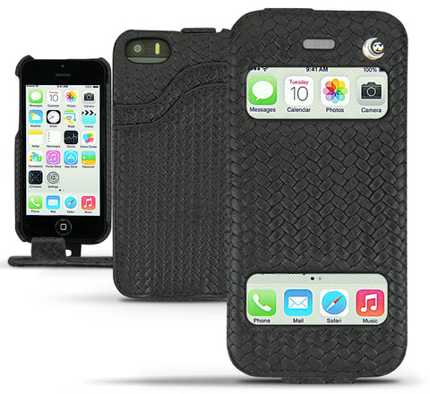 Picture of Noreve iPhone 5/5S 'Tradtional D' wallet case in horizon black